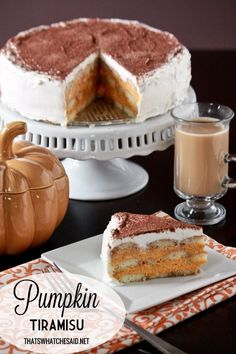 Pumpkin Tiramisu Recipe + Pumpkin Spice Coffee
