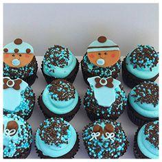 Baby boy cupcakes...very cute