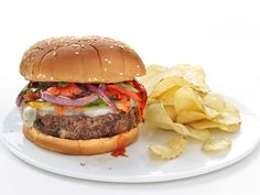 Sausage-and-Peppers Burgers Recipe : Food Network Kitchen : Food Network - FoodNetwork.com