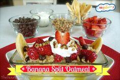 Banana Split Oatmeal Breakfast MOMables.com