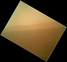 The first color image sent back to Earth from Curiosity.