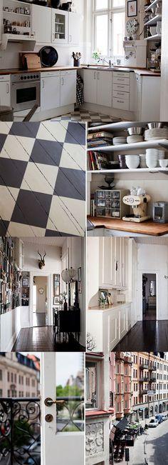 wood floors painted checkerboard