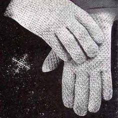 Men's Afghan Stitch Gloves   Crochet Patterns
