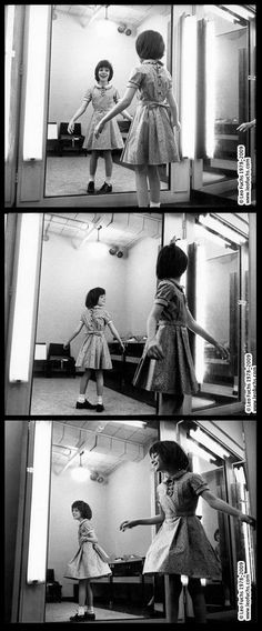 Mary Badham having a dress fitting on the set of To Kill a Mockingbird, by Leo Fuchs