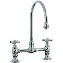 View the Cifial 262.270 Highlands Double Handle Bridge Kitchen Faucet with Porcelain Lever Handles at FaucetDirect.com.