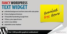 Fancy WordPress Text Widget