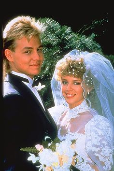 Jason Donovan and Kylie Minogue in Neighbours. It was THE real wedding of the decade, Scott and Charlene. #TSVDAYCOMP