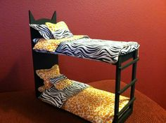 Monster High Doll House Furniture OOAK Bed Purrsephone Meowlody | eBay