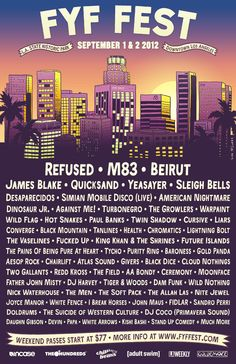 FYF Music Festival Lineup 2012 in Los Angeles, California