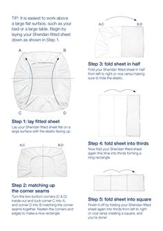 Folding fitted sheets!
