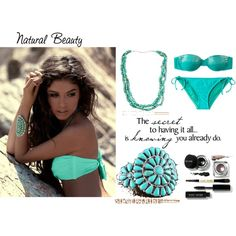 Natural Beauty and Turquoise Jewelry, created by silvertribe on Polyvore    turquoise jewelry at http://www.silvertribe.com/Turquoise-Jewelry