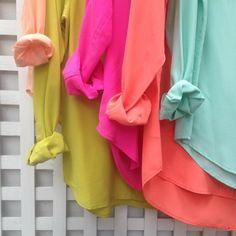 color palettes, color schemes, color combos, equip shirt, miami colors, bright color fashion, equipment shirt, bold bright, bright colors