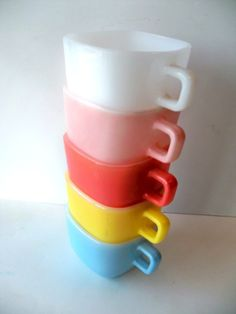 Vintage square mugs