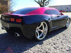 pink camaro, car rides, vehicl, dream, auto, muscl car, camaro pic, friend, black
