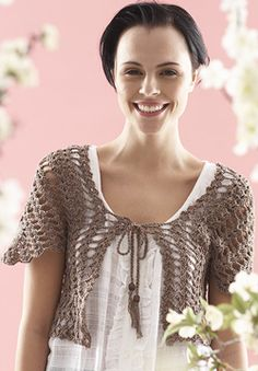 Free Crochet Pattern: Patons Grace - From the Middle Bolero