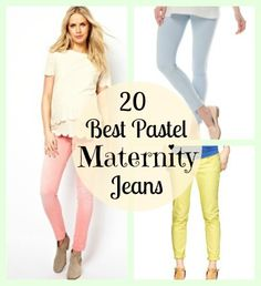 20 Best Pastel Maternity Jeans for Spring