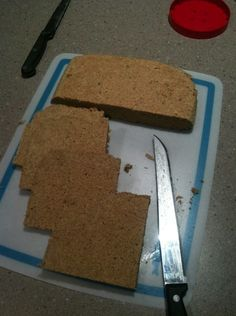 Flax Meal Bread - it gets made on a cookie sheet.