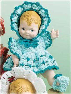 doll cloth, tammi pattern, doll dresses, babi doll, crochet doll, baby dolls, baby dresses, crochet accessories, crochet patterns