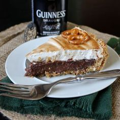 Sweet & Salty Guinness Chocolate Pie with Beer Marshmallow Meringue