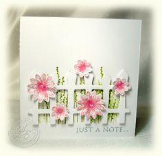 Daisy Picket Fence . Cute Card