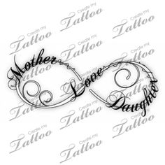 Mother and Daughter Infinity Tattoo Designs