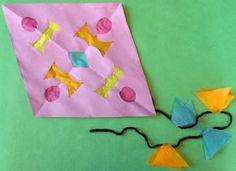 summertime crafts for kids - Homemade Paper Kites :)