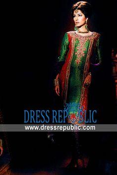 Colorant Cinco, Product code: DR3388, by www.dressrepublic.com - Keywords: Salwar Kameez For Mehndi, Shalwar Kameez for Mehendi, Traditional EID Shalwar Kameez Designs Online