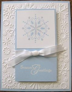 christmas snowflake card. cute with stampin up snowflake spot