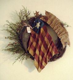 4th of July Prim Wreath
