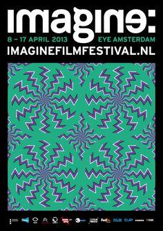 Imagine Film Festival Amsterdam by Nick Liefhebber, via Behance