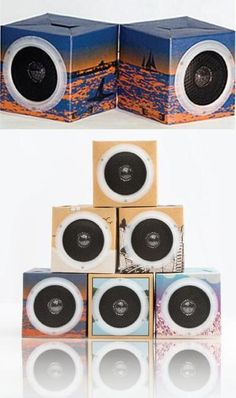 """Free (almost) OrigAudio Fold n' Play speakers:  To celebrate its fifth anniversary, @origaudio is offering a set of its Fold N' Play wired speakers, made from """"post-consumer recycled materials"""" for free, but standard shipping is $5.55. The 3-inch wired cubes, normally $16 plus shipping, fold flat for travel and work with any smartphone or audio device with a standard audio jack. The deal is good through 11:59 p.m. PST Sept. 1 as supplies last. CLICK THE PIC for more."""