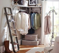 Small space outside closet : New York Shelf & Clothes Rack | Pottery Barn