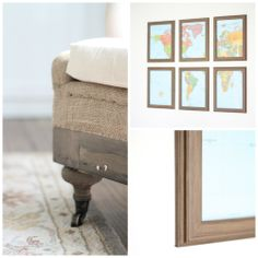 I found these inexpensive frames in a beautiful washed walnut to create a gallery wall from the Better Homes & Gardens line at Walmart!