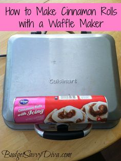 How to Make Cinnamon Rolls with a Waffle Iron