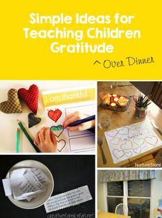 The Family Kitchen: 5 Activities for Teaching Children Gratitude over Dinner #Thanksgiving #Kids