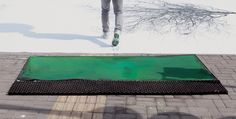 Green Pedestrian Crossing created by Jody Xiong   A campaign to promote walking and a greener environment.