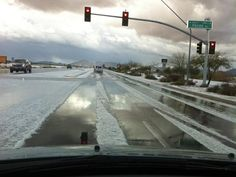 Snow in Queen Creek, AZ. We had crazy weather this past weekend.