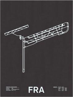 FRA Airport Runway poster