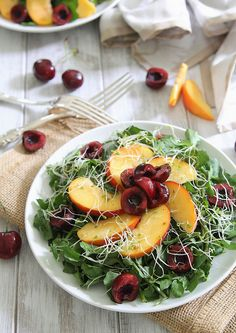 Peach & Cherry Watercress Salad