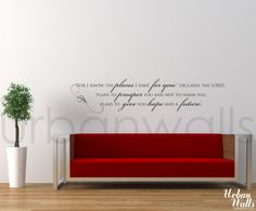 Vinyl Wall Sticker Decal Art  Hope and a Future by urbanwalls, $49.00