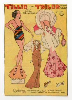 Tillie the Toiler-Yvonne  paper doll  1930-1939