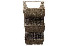 3-Part Sea Grass Wall Basket on OneKingsLane.com wall basket, seagrass wall
