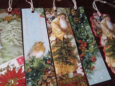 Recycling Christmas Cards - make bookmarks for the classroom - gifts ≈≈