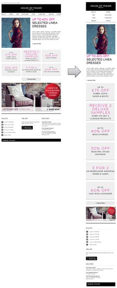 Responsive Email Design from House of Fraser