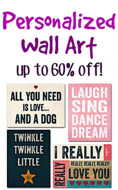 Personalized Wall Art Sale ~ up to 60% off!! #decor