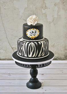 Gold  zebra - by Tamataartje @ CakesDecor.com - cake decorating website
