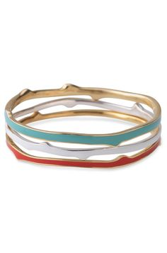 Love the fun colors in this bangle set