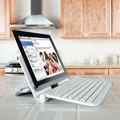 Wireless keyboard and stand make it easy to type with your tablet.