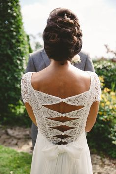 wedding parties, wedding dressses, lace wedding dresses, dress wedding, the dress, bow, bride, back details, style fashion