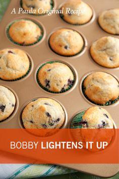 Bobby's Lighter Blueberry Muffins
